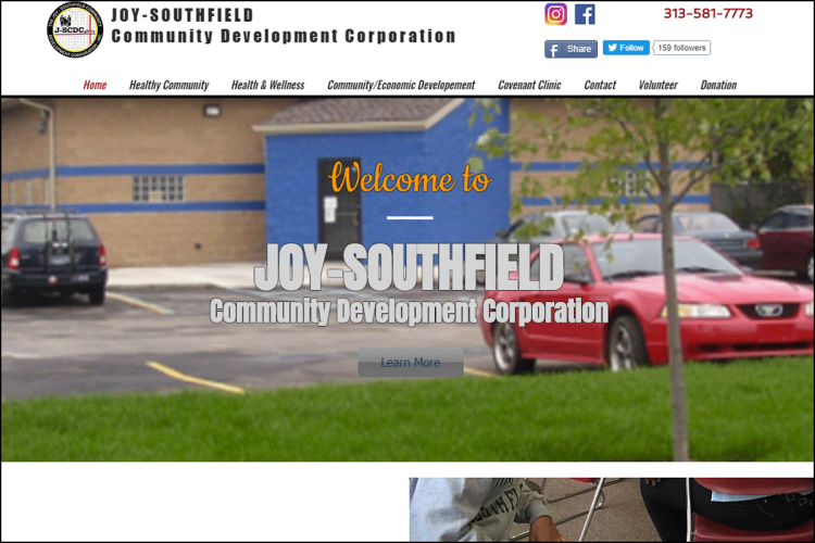 Joy-Southfield Clinic website home page.
