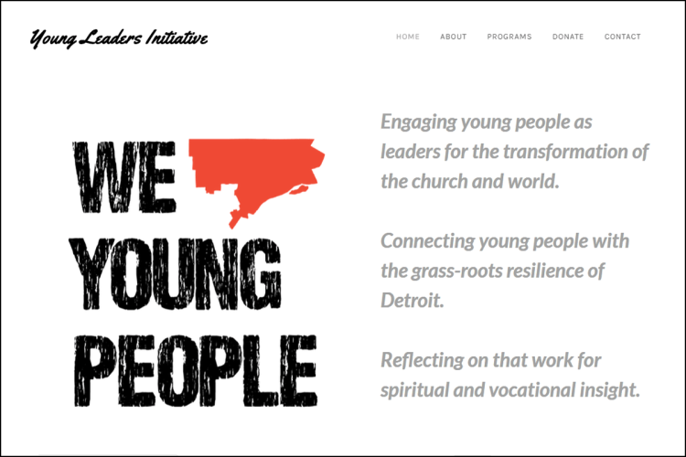 Young Leaders Initiative website page.